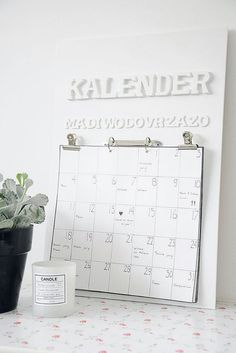 Stappenplan kalender houten letters #DIY #101woonideeen