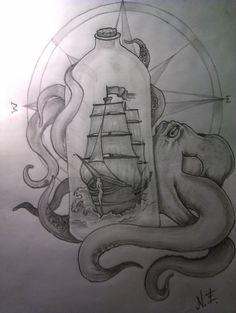 Tattoo Design - Sea's Slave