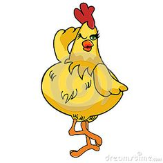 pictures of chickens cartoons | Daft Chicken Cartoon 02 Stock Photos - Image: 26180463