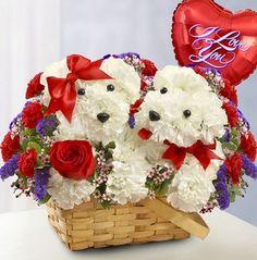 Valentine Puppy Bouquet