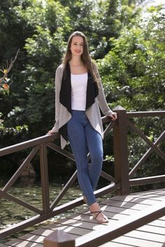 DELIA: This cardigan pattern is a lovely project for beginners and looks so pretty! The pattern features a lapel collar and several cuff versions. The choice of fabric will give the cardigan many great looks. We recommend soft and stretchy double-faced fabrics.  Happy sewing! Your Zierstoff Team