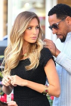 """Because the color is painted on the hair vertically, you will not get that dreaded """"line"""" meaning that as the color grows out, it will be less noticeable, making time between salon appointments longer.  You can also straighten that hair without having to worry about seeing noticeable lines of color.  And you can also wear it wavy or curly!"""