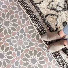 tiles Moroccan Large Tile Stencil for Painting Floors - Modern Floor Stencil Design – Royal Design Studio Stencils Damask Wall Stencils, Moroccan Wall Stencils, Geometric Stencil, Large Wall Stencil, Wall Stencil Patterns, Stencil Fabric, Wallpaper Stencil, Stencil Painting On Walls, Stencil Designs