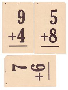 Vintage flash cards.