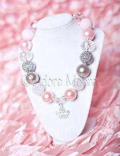 Pink Princess Necklace  Disney Kids Necklace by AdoreMooreBoutique, $21.00
