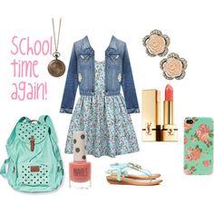 """Back to School girlie"" by gabriela-castillo-i on Polyvore"