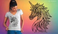 Unicorn Mandala T shirt Vector , - Modern Shirt Print Design, Shirt Designs, Cute Baby Cow, Unicorn Face, Creative Powerpoint, Shirt Maker, Baby Shirts, Layout Template, Create A Logo