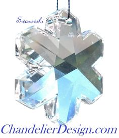 Swarovski Snowflake Chandelier Crystal Clear 25mm Lead Crystal ONE HOLE