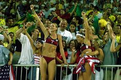 Misty May & Kerri Walsh, 2004 Athens Olympic Gold Medalists