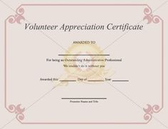 Best volunteer certificate templates download certificate template thank you volunteer with a volunteer appreciation certificate template for their volunteering service for their event yelopaper Image collections