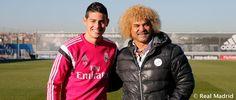 Carlos Valderrama visita a James en la Ciudad Real Madrid... HALA MADRID!! http://1502983.talkfusion.com/en/