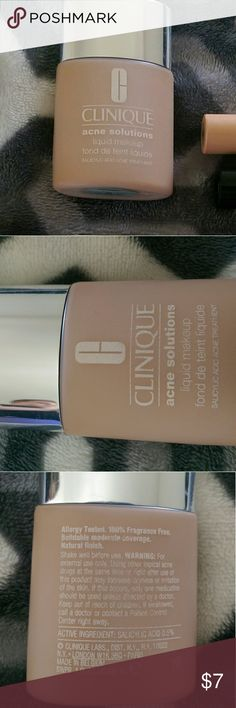 Clinique Acne Solutions Foundation Acne Solutions liquid foundation with salicylic acid, in shade fresh neutral, about 1/3 used. Clinique Makeup Foundation