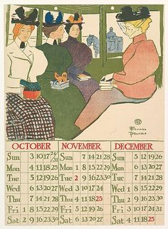 October, November, December by Edward Penfield (1866-1925)