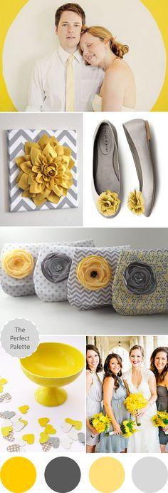 Wedding Colors I Love | Shades of Yellow   Gray