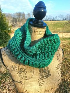 XL Chunky Crochet Cowl scarf in Green by knotyourgrandma on Etsy, $27.00 Messy Top Knots, Chunky Crochet, Loop Scarf, Cowl, My Etsy Shop, Green, Things To Sell, Cowls, Neck Warmer
