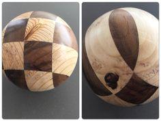 versuch Kugel Holz Nuss, Fichte, Ø ca. 100 mm,