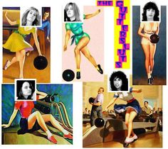 The Guttersluts bowling collage - Tami, Alison, Jess, Jill, Suzanne   #sf #bands #music