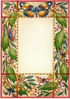 Free Butterfly Page Borders   butterfly page borders fantasy butterflies machine pink butterflies ...