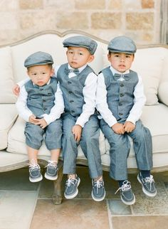 adorable little ring bearers! love the outfits! ~ we ❤ this! moncheribridals.com