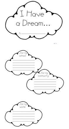 i have a dream worksheet 3rd grade - Google Search
