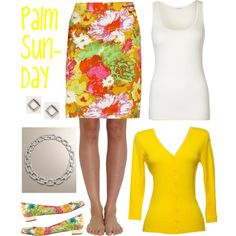 Palm Sunday by deneet on Polyvore featuring American Vintage, Cosabella, J.Crew and Talbots