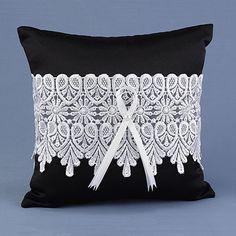 Timeless Treasure Ring Pillow - Black
