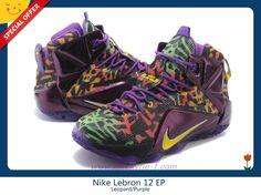 Mens Leopard/Purple 684593-585 Nike Lebron 12 EP Outlet Sale