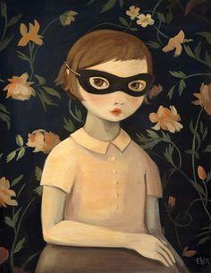 Masked Evaline, Emily Martin art.  I'm insane over her work now