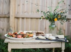 Rustic, country appetizers buffet..