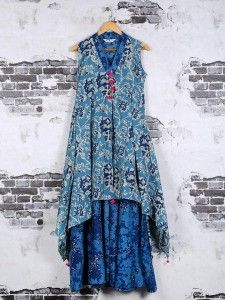Shop Blue cotton light blue color kurti online from G3fashion India. Brand - G3, Product code - G3-WKU1154, Price - 3900, Color - Blue, Fabric - Cotton,