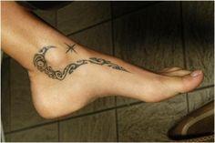 Tribal ankle tattoo
