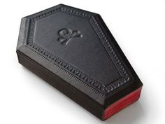 The Vampire Coffin leather journal