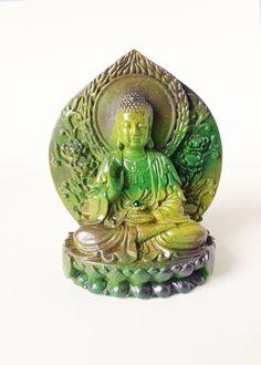 Buddha Statue Lotus Flower Thai Buddha Figurine by boygirltees
