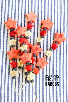 Fruit kabobs for Fourth of July! http://www.stylemepretty.com/living/2014/07/02/fourth-of-july-fruit-kabobs/ | Photography: Ruth Eileen - http://rutheileenphotography.com/