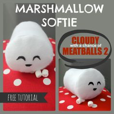 DIY Marshmallow plush - Cloudy With A Chance of Meatballs 2