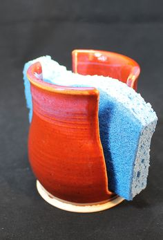 Handmade Pottery Ceramic Sponge Holder.