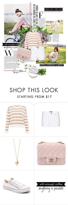 """""""Loving You Freely"""" by seoulmate00 ❤ liked on Polyvore featuring Pull&Bear, dVb Victoria Beckham, Tiffany & Co., Chanel, Converse, Nicki Minaj, WALL, Pink, kpop and EXO"""