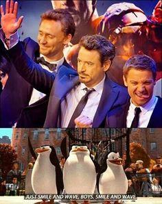 """""""Sorriam e acenem garotos                 sorriam e acenem""""/Tony♥♥"""