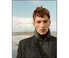 Public School Herringbone-Woven Wool and Cotton-Blend Overcoat   Beams Plus Herringbone-Print Fleece Shawl-Collar Cardigan   John Smedley Belvoir Rollneck Merino Wool Sweater