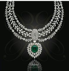Emerald & dazzling diamond
