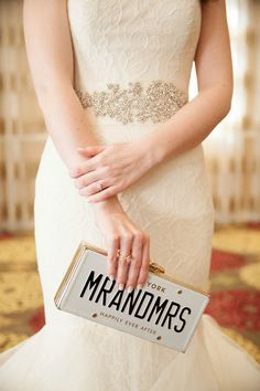 Mr and Mrs Kate Spade clutch