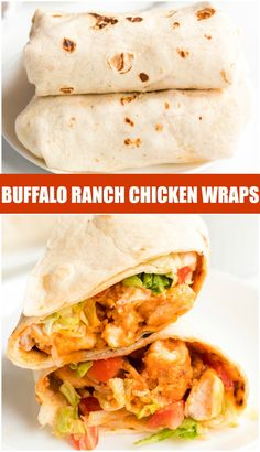 If you like the Buffalo Ranch Chicken Wrap from Buffalo Wild Wings, you'll love this lightened up homemade version! Lightly breaded buffalo chicken pieces wrapped up in a soft tortilla with ranch dressing, shredded lettuce, cheese, and tomatoes make a great dinner or the perfect game day meal! | www.persnicketyplates.com #recipe #chicken #buffalochicken #copycatrecipes #gameday