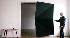 The Evolution door Created by artist Klemens Torggler, this door opens and closes with a light push and can be made of wood, glass, metal or plastic. Incredible!