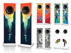 Urban Fidelity Speakers by Josh Ray, via Kickstarter. Like!!!