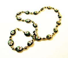 Black Cloissone' Necklace by kiddercreations on Etsy, $24.00