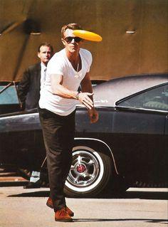 Paul Newman. White t-shirt ftw.