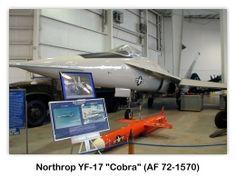Northrop YF-17 Cobra (AF 72-1570) en el USS Alabama (BB-60) Battleship Park, Mobile, Alabama