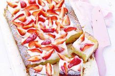 Kwarkcake met aardbeien