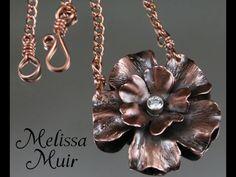 Watch Melissa Muir Make a Gorgeous Copper Flower Pendant ~ The Beading Gem's Journal