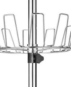Whitmor Floor to Ceiling Revolving Shoe Rack, 36 Pair Shoe Spinner